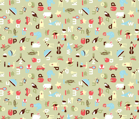 Alphabet fabric by kimnyc on Spoonflower - custom fabric