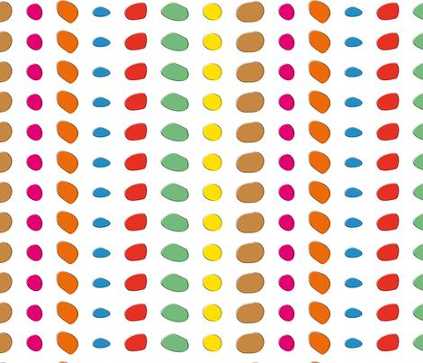 DINO Dot (coordinate) fabric by vannina on Spoonflower - custom fabric