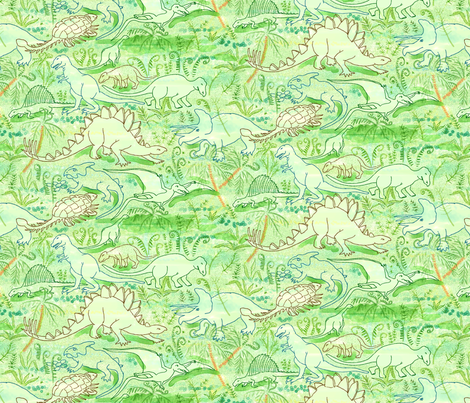 Dinosaurs fabric by vinpauld on Spoonflower - custom fabric