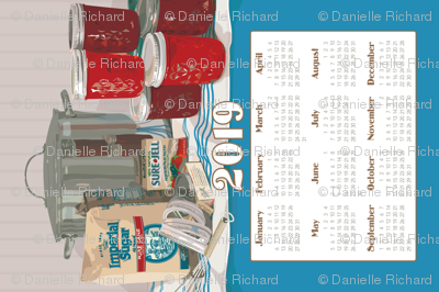 """2019 Calendar Towel """"One More Batch"""""""