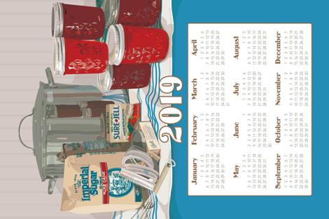 "2019 Calendar Towel ""One More Batch"" fabric by richardcreative on Spoonflower - custom fabric"