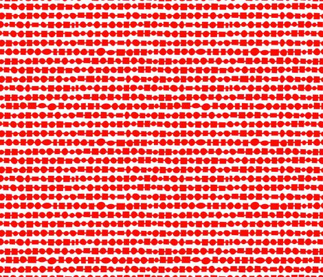 Abacus-Red fabric by kimnyc on Spoonflower - custom fabric