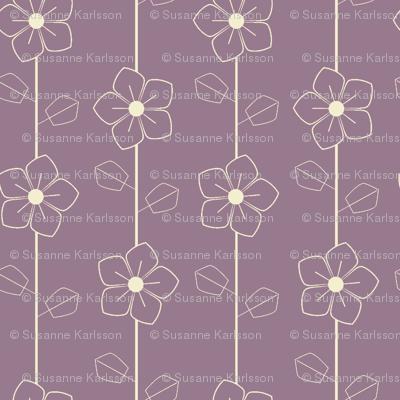Purple retro flowers