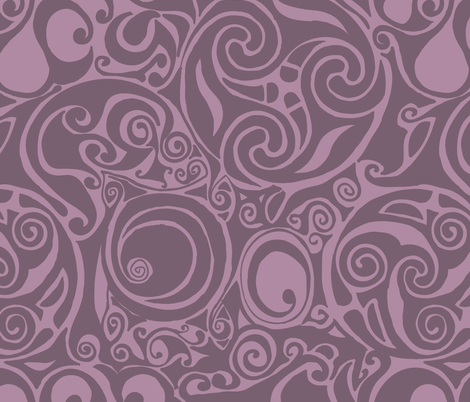celtic pattern purple fabric by suziedesign on Spoonflower - custom fabric