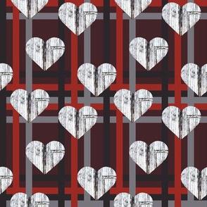 hearts on a barn door