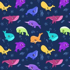Neon Whale Ocean