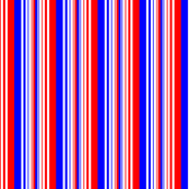 Red White Blue Varied Stripes
