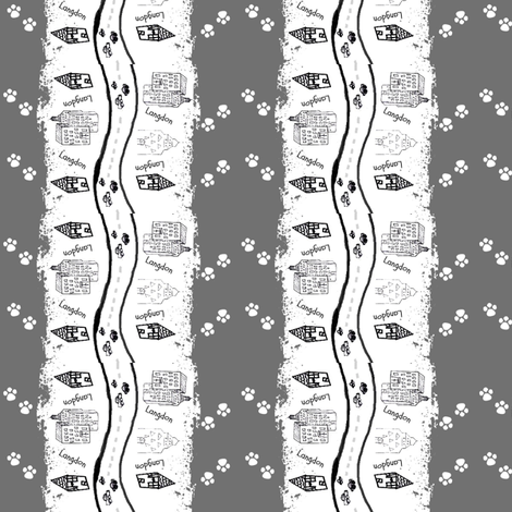 City Scapes Stripes -Personalized LANGDON  Grey fabric by drapestudio on Spoonflower - custom fabric