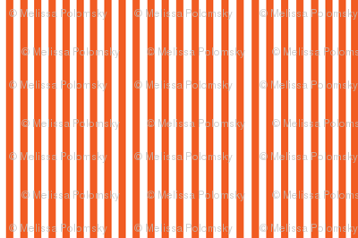 Perfectly Pinstripe in Orange // White