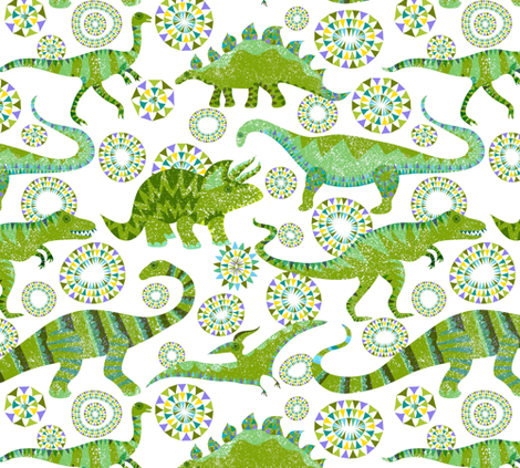 Dare the Dinotastic  fabric by vo_aka_virginiao on Spoonflower - custom fabric