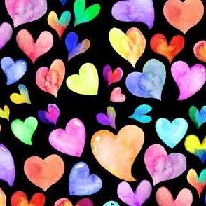 Watercolor Valentine's Day Hearts