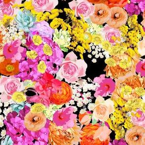 Summer Bright Floral // Black