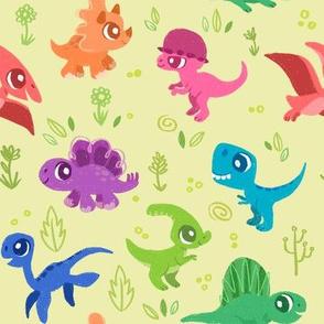 Cute Friendly Dinosaurs