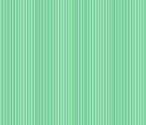 Perfectly Pinstripe in Grass Green // White fabric by theartwerks on Spoonflower - custom fabric