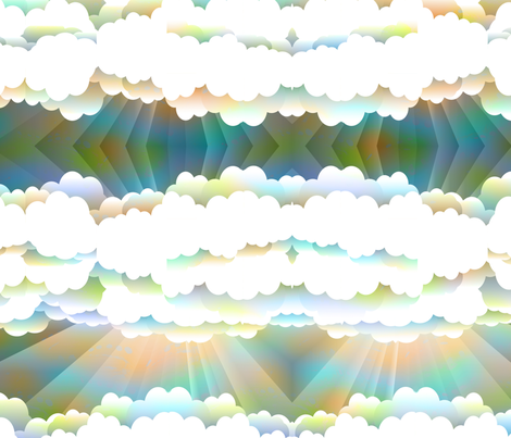 rainbow sky fabric by kociara on Spoonflower - custom fabric