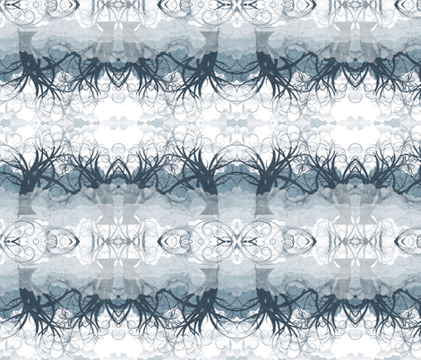 misty walk fabric by kociara on Spoonflower - custom fabric