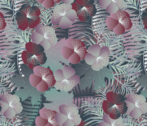 forest flora fabric by kociara on Spoonflower - custom fabric
