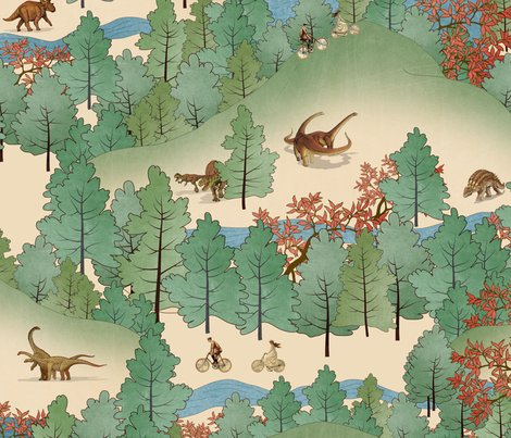 Rdinosaur_forest_pattern_spoon_flower_shop_preview