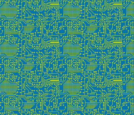 Robots Circuit Board fabric by stitchstapleglue on Spoonflower - custom fabric