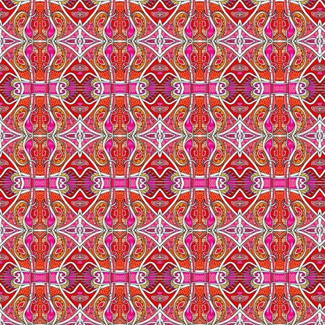 Red Hot Classical Guitar fabric by edsel2084 on Spoonflower - custom fabric