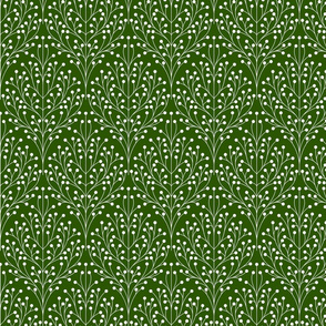 Berry shrub damask green