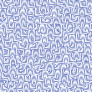 Concentric hills - cornflower blue