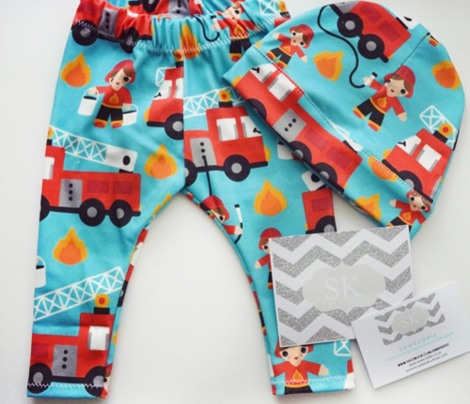 Fire to the rescue fire fighters fire truck and hero boys car fabric