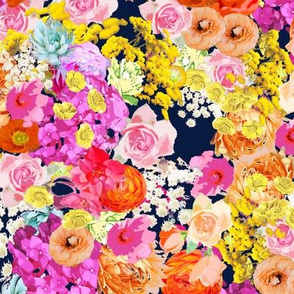 Summer Bright Floral // Navy