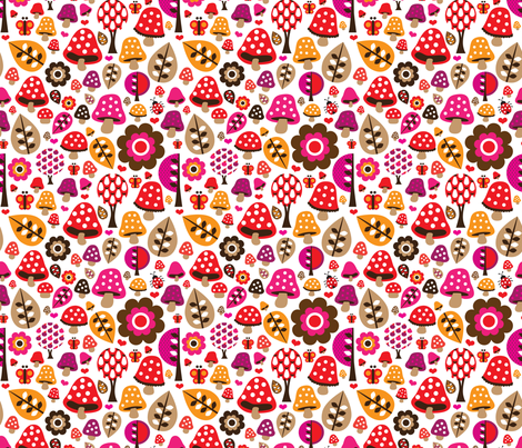 Butterfly fall in love fabric by littlesmilemakers on Spoonflower - custom fabric