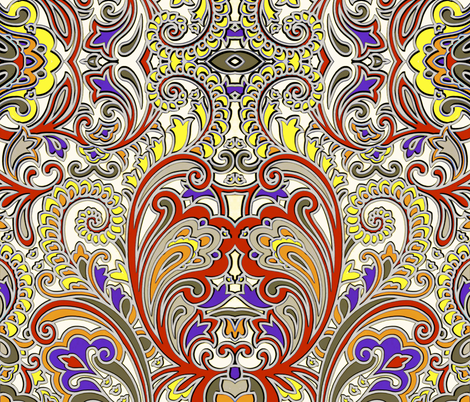 3D Paisley Big and Bold fabric by whimzwhirled on Spoonflower - custom fabric