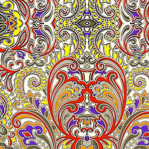 3D Paisley Big and Bold