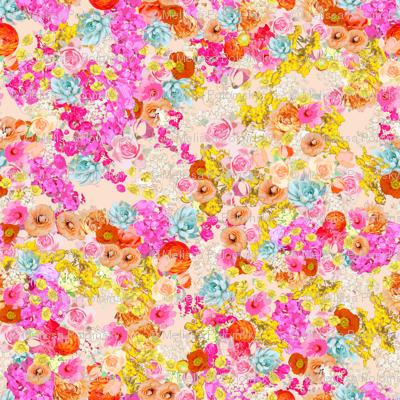 Summer Bright Floral // Peachy Tan Neutral