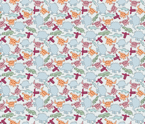 How Kids See Dinosaurs fabric by madex on Spoonflower - custom fabric