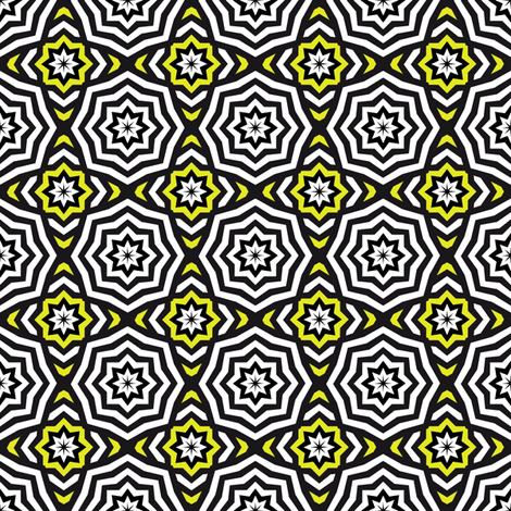 Only The Stars - Hypnotic Yellow fabric by vannina on Spoonflower - custom fabric