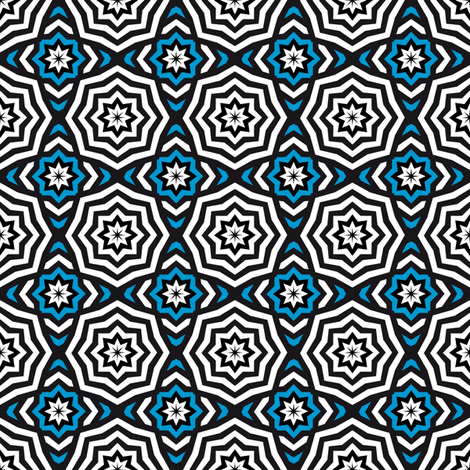 Only The Stars - Hypnotic Blue fabric by vannina on Spoonflower - custom fabric