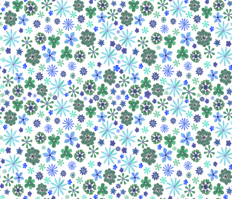 Calico Sea of Flowers fabric by mypetalpress on Spoonflower - custom fabric