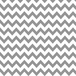 chevron in gray and white