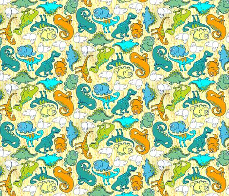 Dino Kin fabric by kari_d on Spoonflower - custom fabric