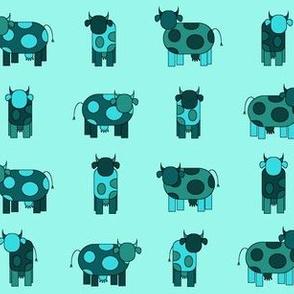 aqua cows