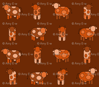dark orange cows