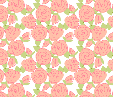 Roses are Sweet - Lolita fabric by hugandkiss on Spoonflower - custom fabric