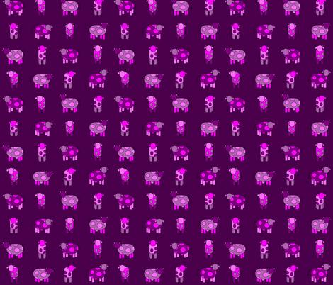 dark pink cows fabric by engelbam on Spoonflower - custom fabric