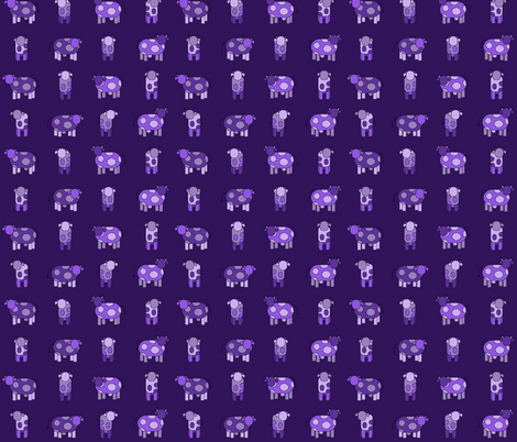 Dark purple cows fabric by amyknits on Spoonflower - custom fabric