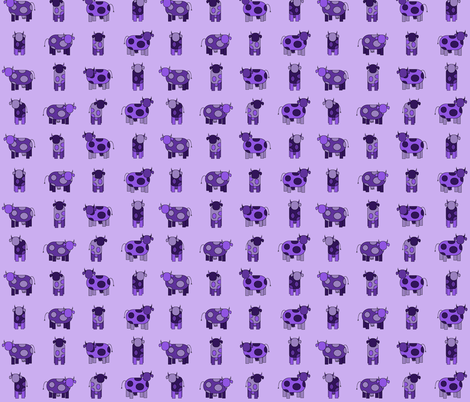 light purple cows fabric by engelbam on Spoonflower - custom fabric