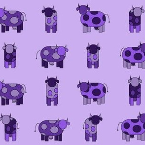 light purple cows