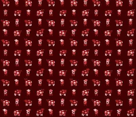 dark red cows fabric by engelbam on Spoonflower - custom fabric