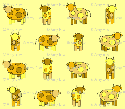 yellow cows
