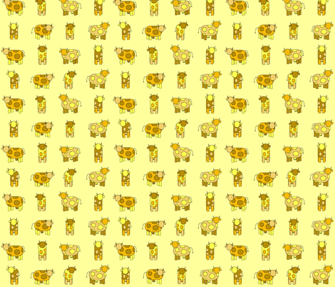 yellow cows fabric by engelbam on Spoonflower - custom fabric