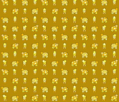 golden cows fabric by engelbam on Spoonflower - custom fabric