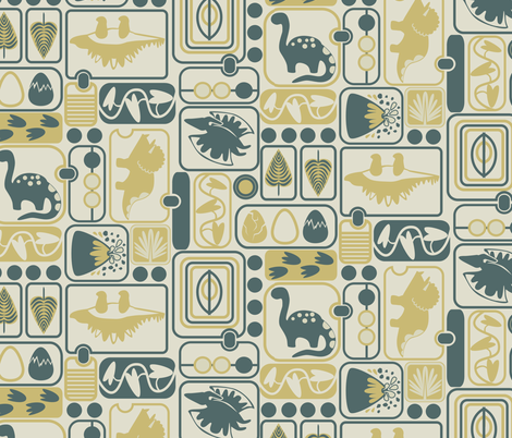 Dino-mite!  fabric by gsonge on Spoonflower - custom fabric